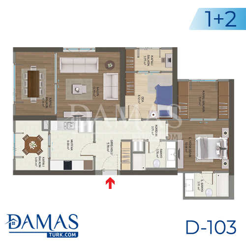 Damas Project D-103 in Istanbul - Floor plan picture 01