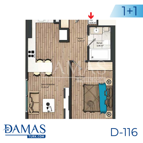 Damas Project D-116 in Istanbul - Floor plan picture 01