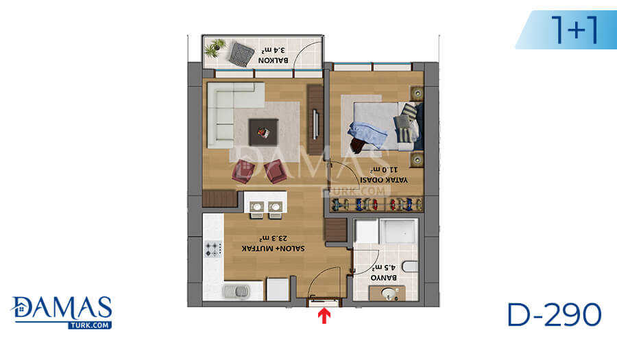 Damas Project D-290 in Istanbul - Floor plan picture 01