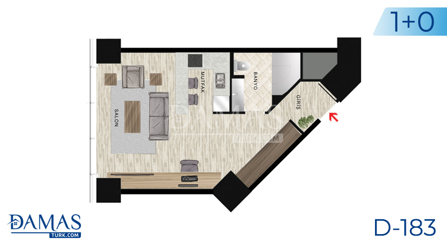 Damas Project D-183 in Istanbul - Floor plan picture  01