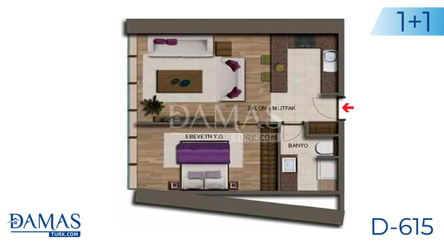 Damas Project D-615 in Antalya - Floor plan picture 01