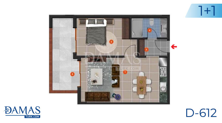 Damas Project D-612 in Antalya - Floor plan picture 01