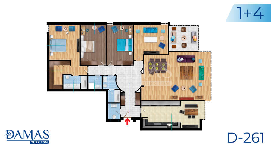 Damas Project D-261 in Istanbul - Floor plan picture 01