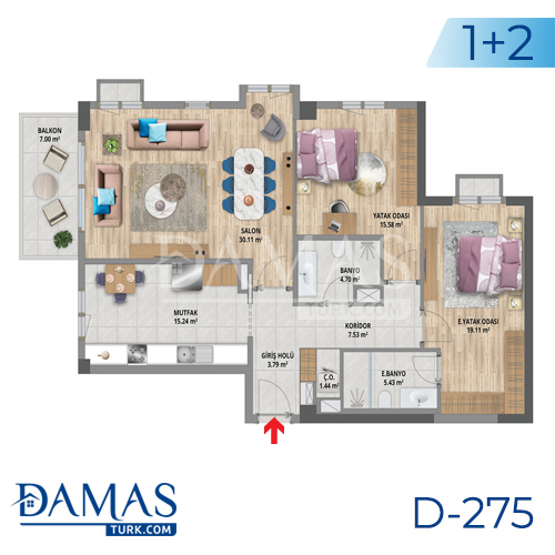 Damas Project D-275 in Istanbul - Floor plan picture 01