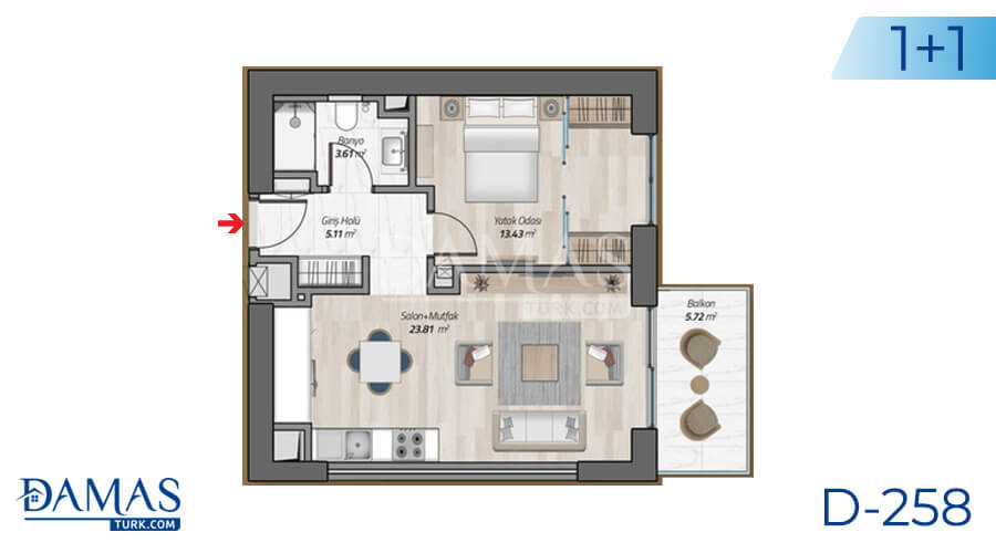 Damas Project D-258 in Istanbul - Floor plan picture 01