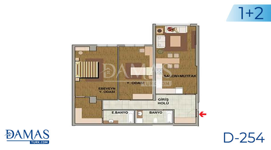 Damas Project D-254 in Istanbul - Floor plan picture 01