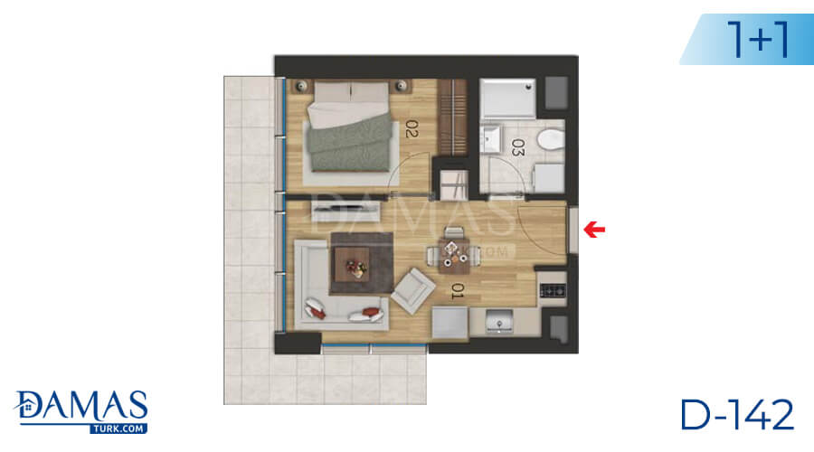 Damas Project D-142 in Istanbul - Floor plan picture 01