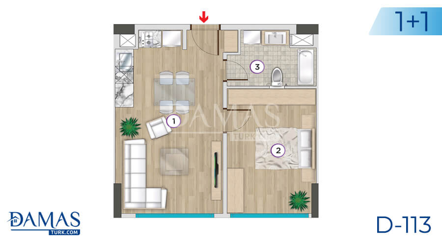 Damas Project D-113 in Istanbul - Floor plan picture 01
