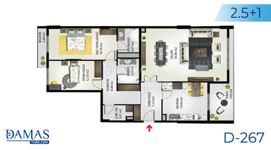 Damas Project D-267 in Istanbul - Floor plan picture 01