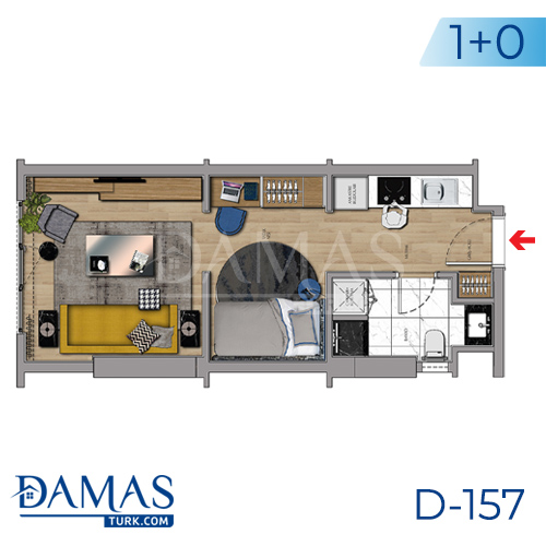 Damas Project D-157 in Istanbul - Floor plan picture 01