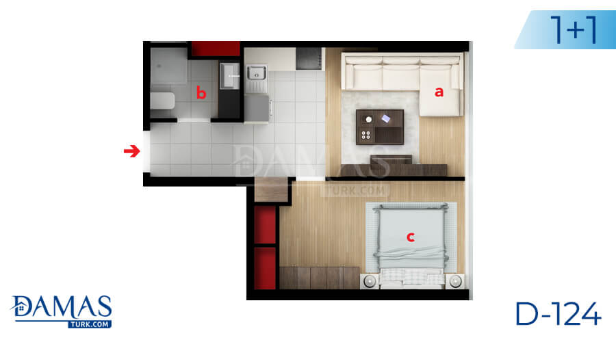 Damas Project D-124 in Istanbul - Floor plan picture 01
