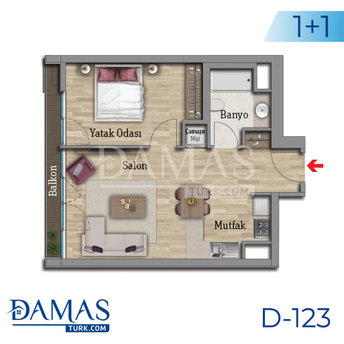 Damas Project D-123 in Istanbul - Floor plan picture 01