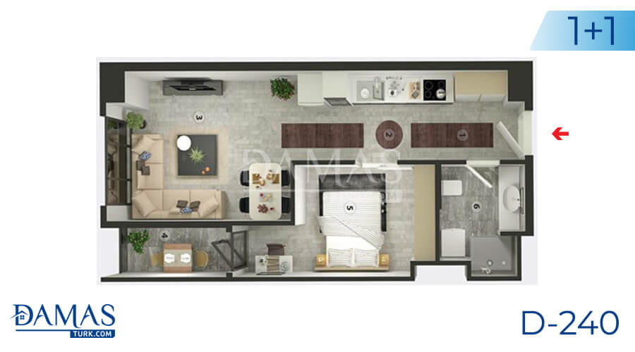 Damas Project D-240 in Istanbul - Floor plan picture  01