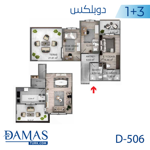 Damas Project D-506 in kocaeli - Floor plan picture 01