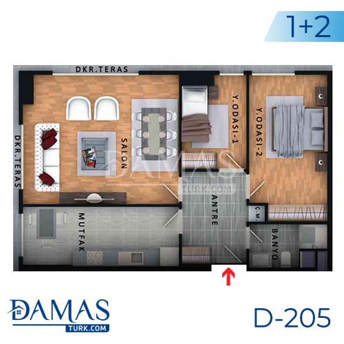 Damas Project D-205 in Istanbul - Floor plan picture  01