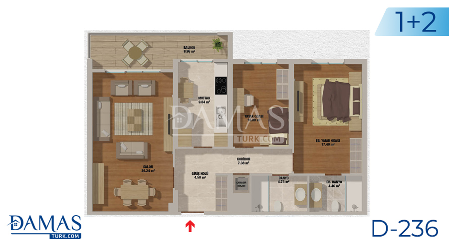 Damas Project D-236 in Istanbul - Floor plan picturer  01