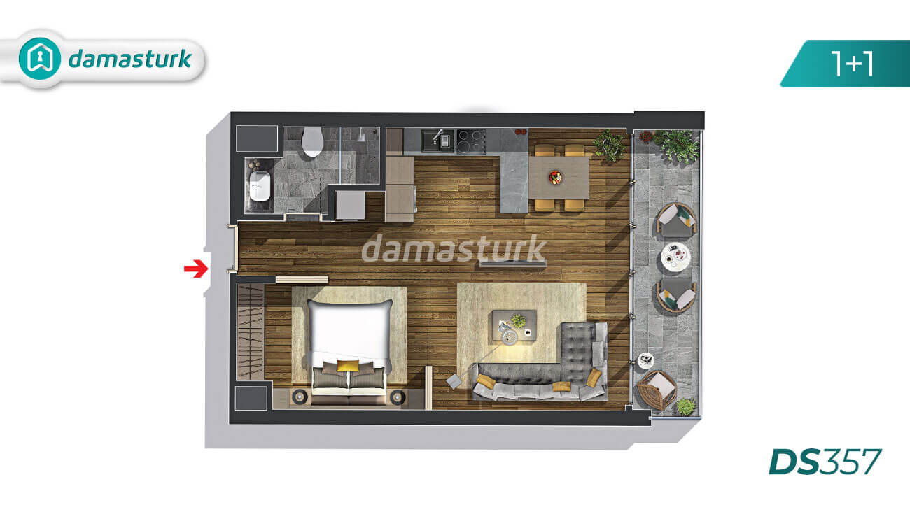 Apartments for sale in Turkey - Istanbul - the complex DS357 || damasturk Real Estate Company 01