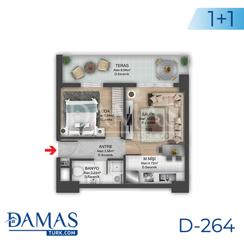 Damas Project D-264 in Istanbul - Floor plan picture 01