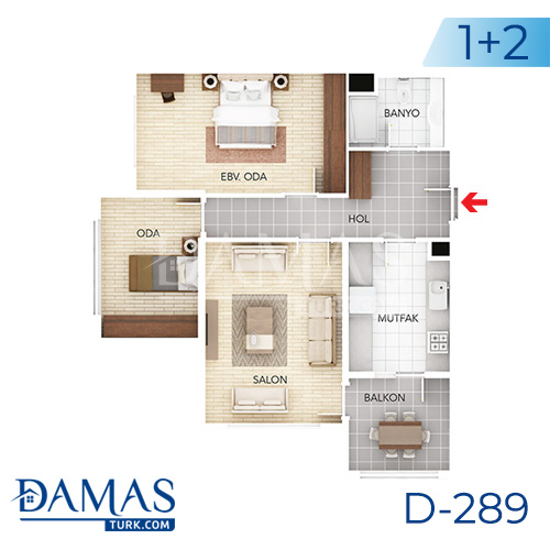 Damas Project D-289 in Istanbul - Floor plan picture 01