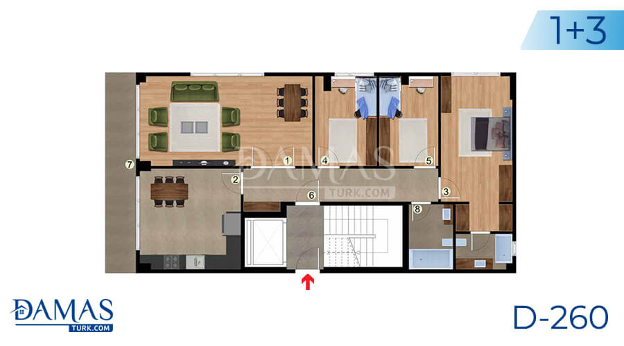 Damas Project D-260 in Istanbul - Floor plan picture 01