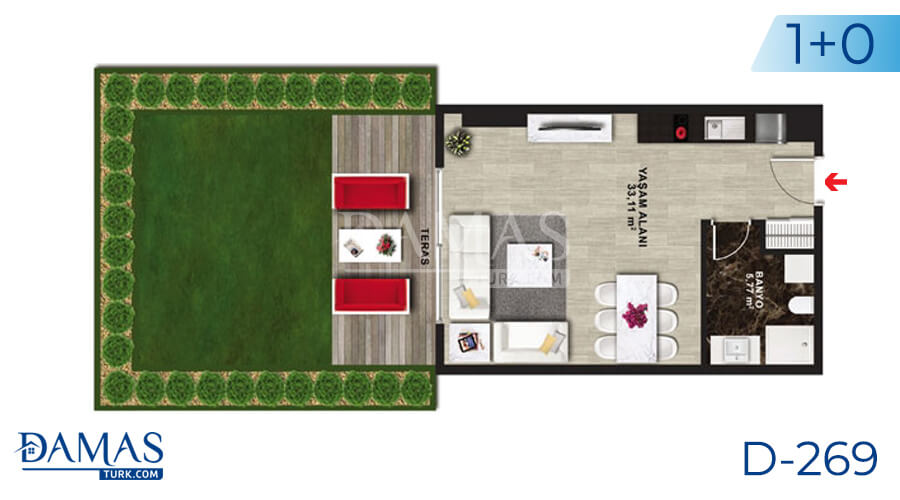 Damas Project D-269 in Istanbul - Floor plan picture 01