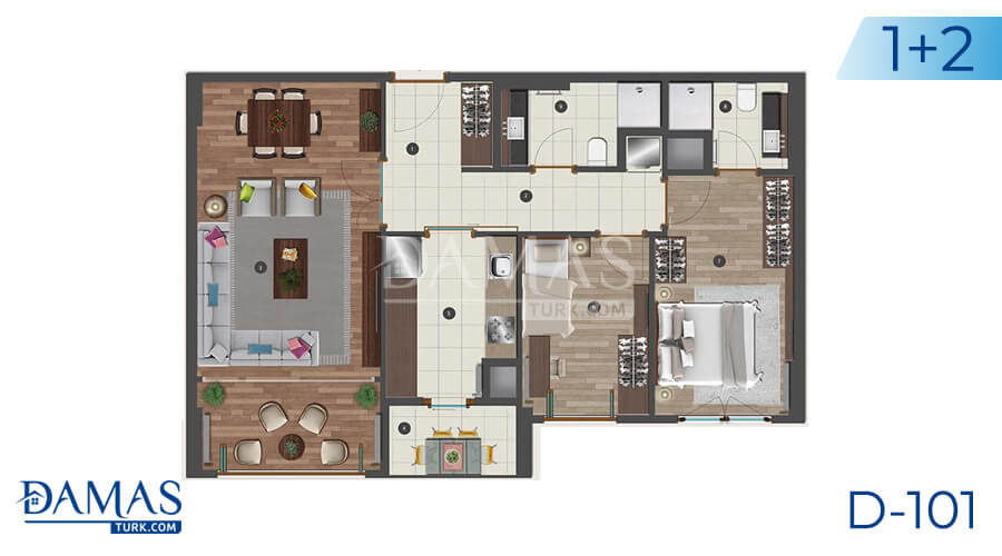 Damas Project D-101 in Istanbul - Floor plan picture 01