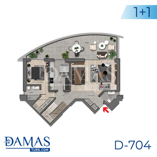 Damas Project D-704 in Ankara - Floor plan picture 01