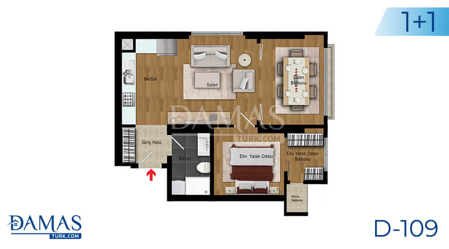 Damas Project D-109 in Istanbul - Floor plan picture 01