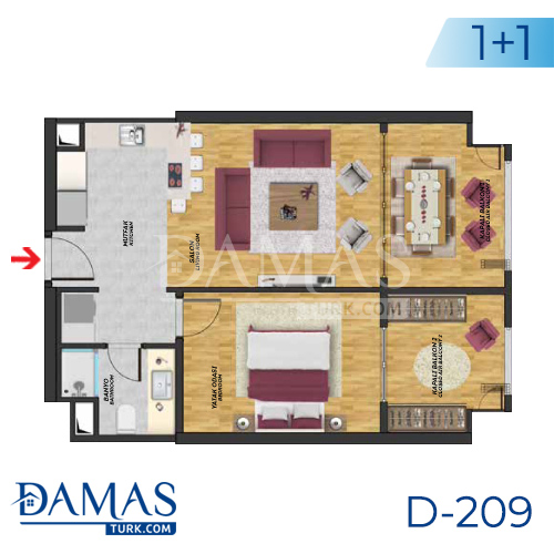 Damas Project D-209 in Istanbul - Floor plan picture  01