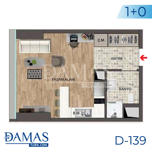 Damas Project D-139 in Istanbul - Floor plan picture 01