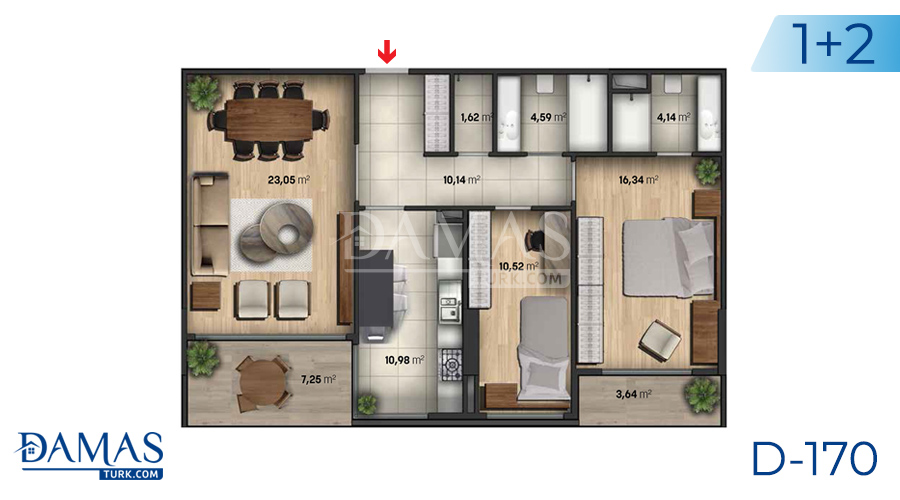 Damas Project D-170 in Istanbul - Floor plan  picture  01