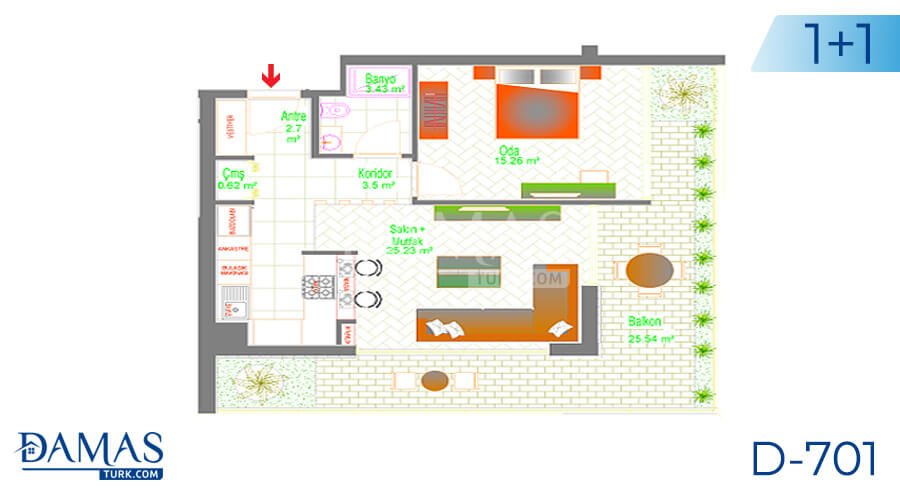 Damas Project D-701 in Ankara - Floor plan picture 01