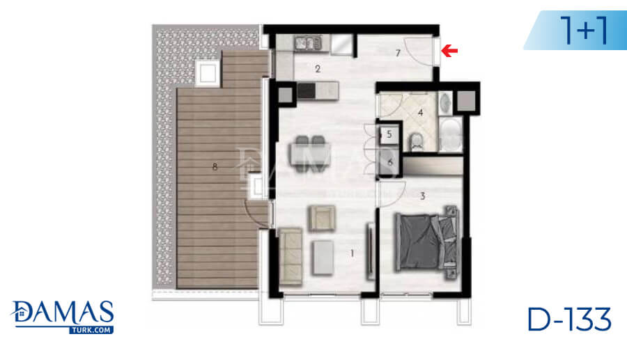 Damas Project D-133 in Istanbul - Floor plan picture 01