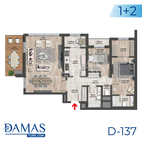 Damas Project D-137 in Istanbul - Floor plan picture 01