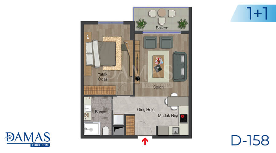 Damas Project D-158 in Istanbul - Floor plan picture 01