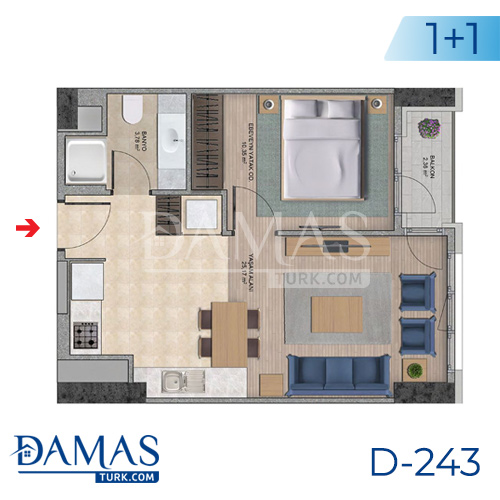 Damas Project D-243 in Istanbul - Floor plan picture  01