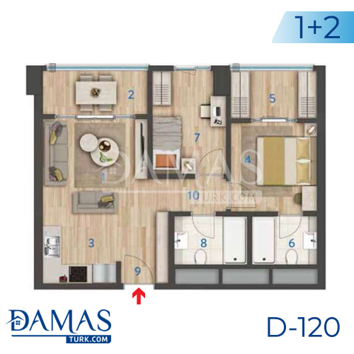 Damas Project D-120 in Istanbul - Floor plan picture 01