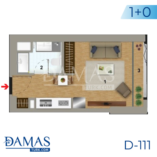 Damas Project D-111 in Istanbul - Floor plan picture 01