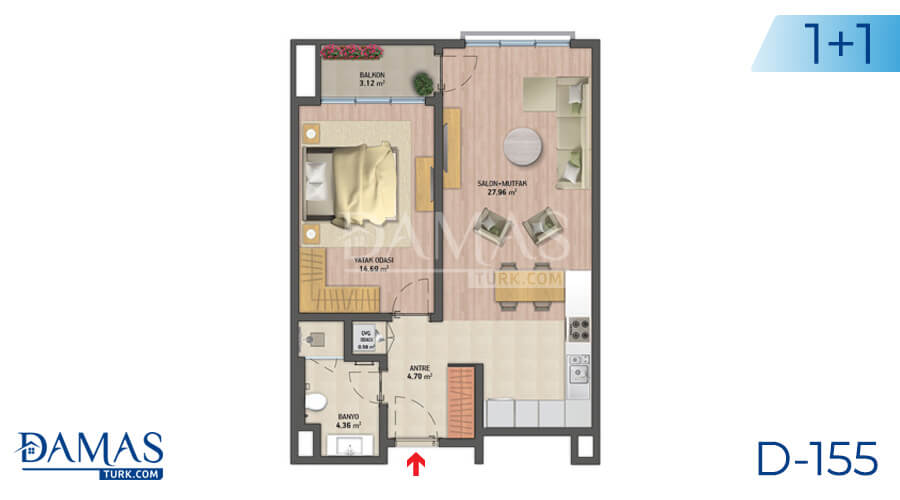 Damas Project D-155 in Istanbul - Floor plan picture 01