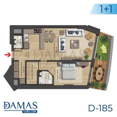 Damas Project D-185 in Istanbul - Floor plan picture  01
