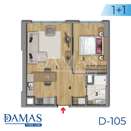 Damas Project D-105 in Istanbul - Floor plan picture 01