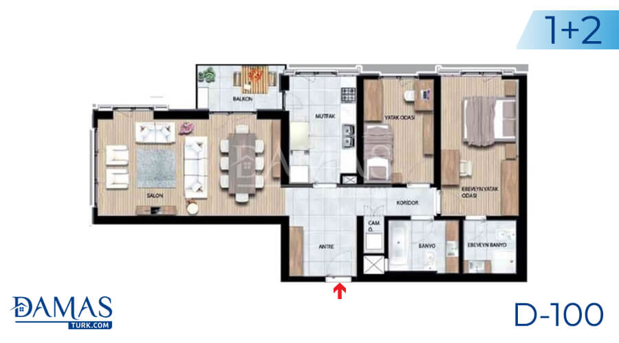 Damas Project D-100 in Istanbul - Floor plan picture 01