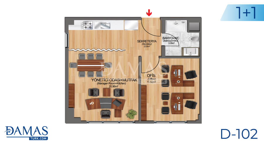 Damas Project D-102 in Istanbul - Floor plan picture 01