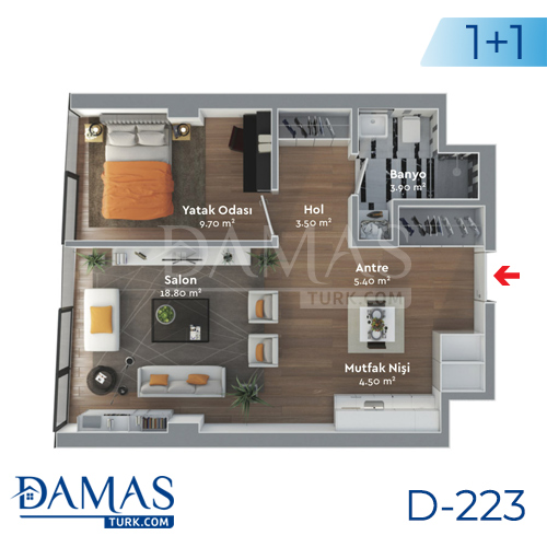 Damas Project D-223 in Istanbul - Floor plan  picture  01