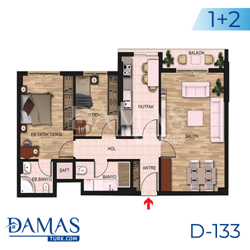 Damas Project D-131 in Istanbul - Floor plan picture 01