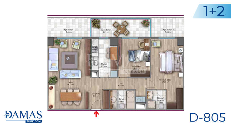 Damas Project D-805 in Istanbul - Floor plan picture 01