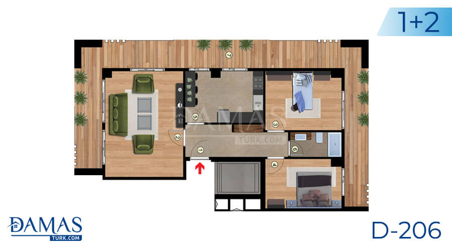 Damas Project D-206 in Istanbul - Floor plan picture 01