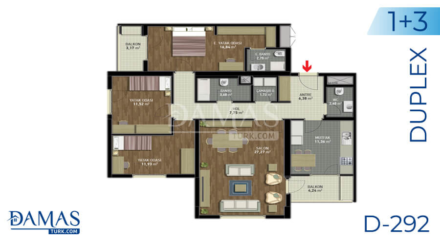 Damas Project D-292 in Istanbul - Floor plan picture 01