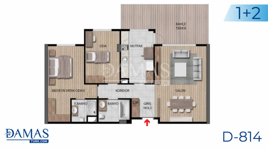 Damas Project D-814 in Istanbul - Floor plan picture 01