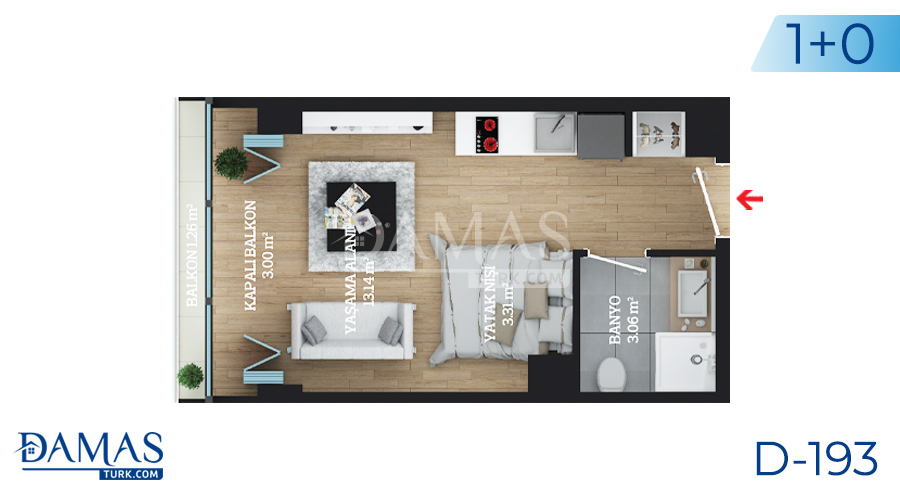 Damas Project D-193 in Istanbul - Floor plan picture  01